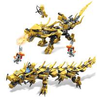 幻影忍者益智拼装积木玩具 男孩组装拼装塑料积木玩具 忍者黄金龙