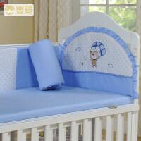 婴爱婴儿床上用品四季通用宝宝床品四件套可拆洗儿童婴儿床围套件a363
