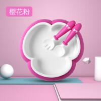 宝宝餐盘吸盘碗碗勺套装学吃饭训练辅食儿童餐具
