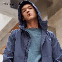 【2件2.5折叠券约:159.8,12日0点】MECITY男装冬季科技面料连帽运动夹克外套时尚潮