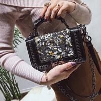 手提包包女新款欧美时尚小方包潮流链条单肩女包百搭斜挎小包