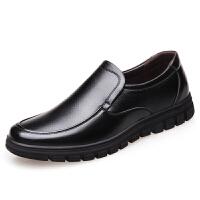 皮鞋男秋冬季商务休闲40岁50爸爸鞋真皮大码软底60中老年加绒