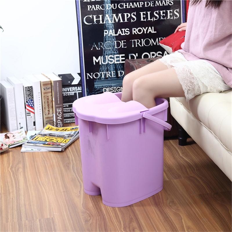 带盖高厚足浴桶 按摩保温泡脚桶足浴盆 塑料手提洗脚桶洗脚盆