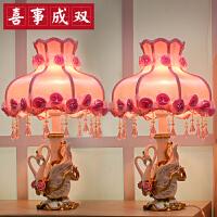 创意实用结婚礼物闺蜜订婚新婚庆天鹅台灯家居摆件装饰工艺小礼品 +玫瑰相框(一对)