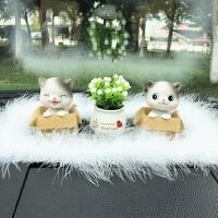 车内饰品摆件可爱摇头猫车饰女创意汽车摆件车载车上装饰用品 汽车用品
