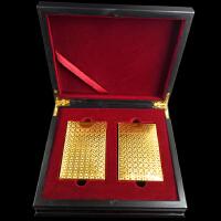 创意土豪金塑料扑克牌 黄金色磨砂德州扑克牌防水定制黑色卡片牌