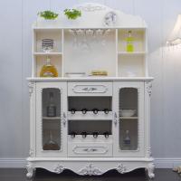 欧式餐边柜实木 餐厅酒柜厨房碗柜茶水柜多功能 厨房橱柜简易 双门