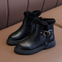【活动价:126】女童鞋儿童马丁靴子真皮短靴2019冬季新款时尚加厚加棉儿童皮靴女