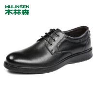 木林森男鞋2018秋季新款商务正装皮鞋 87053010