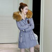 高中学生女冬季加厚外套2018新款韩版学院风少女棉衣初中生棉袄