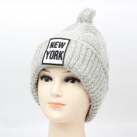 冬季帽子女 韩版时尚潮百搭毛线帽秋冬天女士保暖护耳加厚针织帽LCQ M(56-58cm)