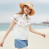 【1件3折到手价:68.7】美特斯邦威长袖衬衫女甜美夏装新款韩系chic雪纺衫百搭潮流