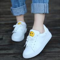 2018春秋季新品小白鞋男女童板鞋韩版中大童笑脸休闲鞋