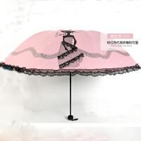 三折胶伞防止外线小伞蕾丝花边遮阳伞太阳伞 100cm