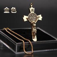新款高档精钢耶稣十字架香水挂件保平安汽车后视镜上挂饰车内吊饰