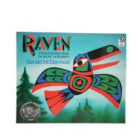 英文原版 Raven 乌鸦 A Trickster Tale [平装] [4-8岁]