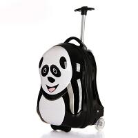 时尚儿童拉杆箱卡通蛋壳行李箱男女 奶爸旅行箱17英寸 可爱小学生动物拉杆箱包