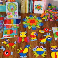 智力拼图 七巧板 儿童创意 智力拼图 木质制玩具 男女孩 早教益智
