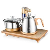 全自动上水壶电热水壶家用电茶炉不锈钢烧水壶抽水电磁泡茶具金色款