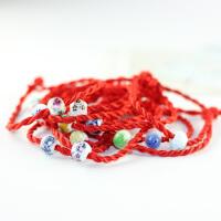 「幸运红绳」手工 陶瓷转运珠红绳手链饰品 百搭配饰