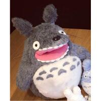 正版���公仔�m崎�E吉卜力totoro日本公仔娃娃毛�q玩具 ���抱枕