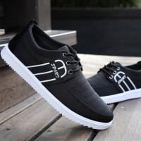 秋季男士帆布鞋韩版潮流2018新款学生板鞋防滑工作鞋男老北京布鞋