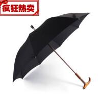 西班牙雨伞长直柄伞超轻防风绅士男女中老年人拐杖雨伞 黑色