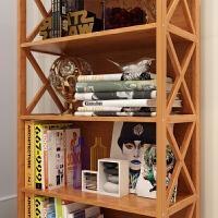 收纳置物柜简易书柜落地实木简约现代柜子储物柜儿童自由组合书架