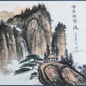 当代实力派画家   肖建    峰高涛声远  / A8