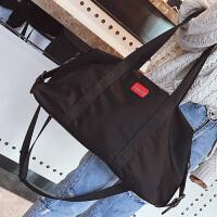 短途旅行包女手提行李袋男韩版轻便防水尼龙行李包大容量健身包潮 中