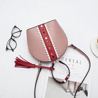 新款女包贝壳包韩版手提包百搭单肩斜挎包超火迷你小包包 粉红色