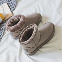 雪地靴女靴子女短筒加绒冬棉鞋女靴冬季女鞋百搭韩版短靴