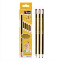 金万年 学生2B铅笔 炭画考试 绘图素描学习铅笔 G-2604 12支装