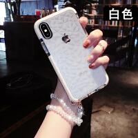 苹果x手机壳透明女款xs新款xs max硅胶XR潮牌iphone6/6s/7/8全包时尚7plus网
