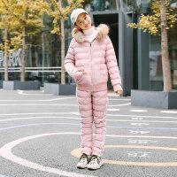 少女两件套棉衣2018冬季新款中学生棉袄韩版棉裤外套休闲套装