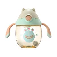 宝宝水杯婴儿学饮带手柄喝水杯儿童喝奶吸管杯