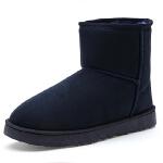 冬季加绒老人棉鞋女防滑软底中老年雪地靴加厚保暖妈妈鞋棉靴子SN0835