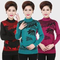 20180324205022790中老年妇女装秋冬装半高领针织衫40-50岁中年人妈妈装毛衣打底衫