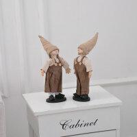 家居装饰品客厅小摆件工艺品情侣布艺吊脚娃娃创意房间卧室内摆设