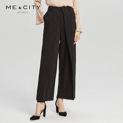 ME&CITY 548620 女士宽松阔腿裤