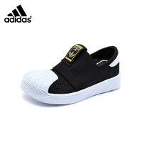 阿迪达斯Adidas童鞋18新款经典贝壳头婴幼童学步鞋男童宝宝鞋网面透气训练鞋 (0-4岁可选) DB0922