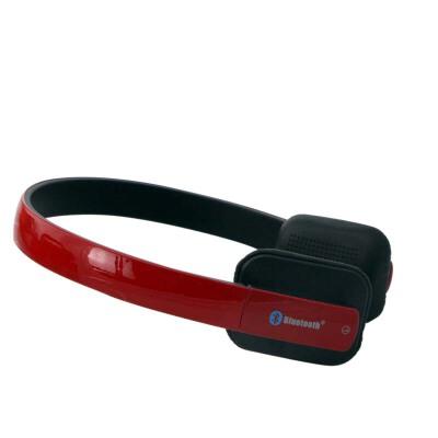 shockwave冲击波 SHB-921BH 蓝牙有线无线双用耳机 亮红色头戴式HiFi立体声 内置麦可通话 蓝牙耳机