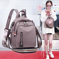 2018新款韩版双肩包女百搭软皮女士两用时尚背包休闲大容量书包