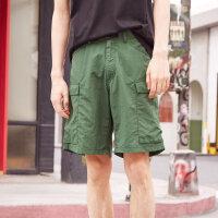 【2件3折到手价:20.7】美特斯邦威休闲短裤男装宽松夏季新款潮户外快干中裤商场款