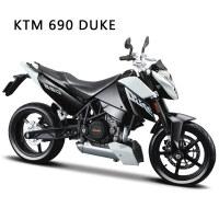 1:12拼装车模摩托车本田/宝马合金拼装摩托车模型组装模型 (黑白色)KTM 690公爵105