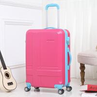 韩国糖果色拉杆箱万向轮行李箱密码耐磨旅行箱托运女20英寸登机箱户外休闲撞色大容量箱子