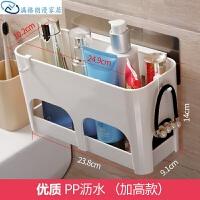 洗手台置物架 强力吸盘卫生间免打孔浴室收纳架壁挂洗漱台家用