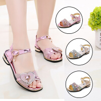 新款爱心女童凉鞋夏季女童魔术贴儿童凉鞋中大童女孩鞋子