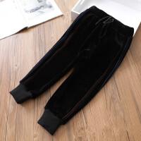 百搭金丝绒女童加绒加厚运动裤保暖长裤休闲裤冬装新款A8-T32