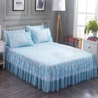 床裙式床罩单件公主风蕾丝边荷叶花边纱保护床套防尘床单夏天